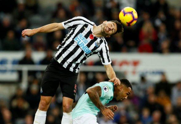 Some Newcastle fans drool over Schar v Blackburn