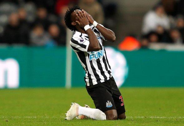 Image for Newcastle fans slam Atsu v Leicester