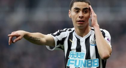 Schar reveals what's impressed him about Almiron