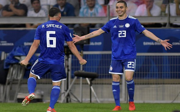 Image for Hope for Almiron after Paraguay strike