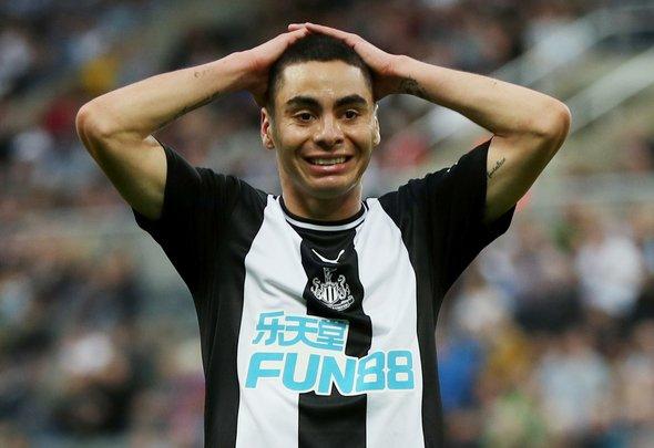 Image for Newcastle fans slam Almiron v Man United