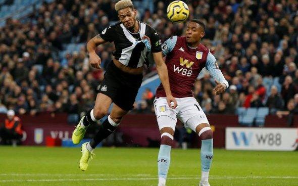 Image for Sutton sympathises with Joelinton after Villa clash
