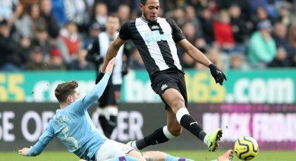 Newcastle fans slam Joelinton v Man City