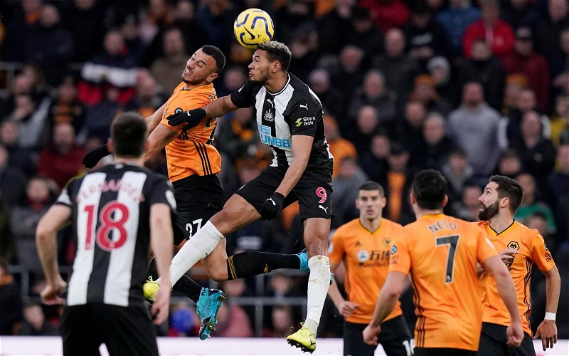 Image for Joelinton: Newcastle United fans show support for striker amid smatterings of abuse